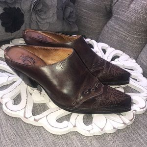 Charlie Horse Mule Western Boot Clogs Shoes 7